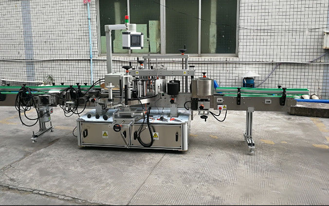 中國兩面帶伺服電機自動不干膠貼標機供應商